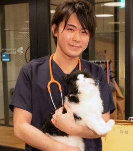 獣医師の長谷川諒です。臨床、往診の他、教育や研究にも従事。猫は小さな犬ではないという信念のもと、猫ちゃんごとに最も適した医療を届けます。